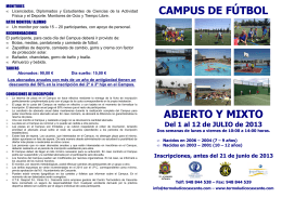 (Folleto Campus de Fútbol 2013) - Termoludico