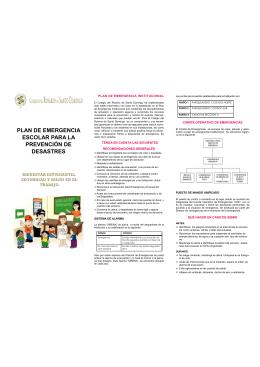 folleto de emergencia -publicación en la pagina