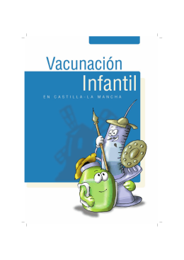 FOLLETO VACUNACION - Gobierno de Castilla