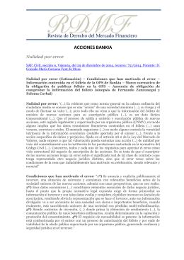sinopsis - Revista de Derecho del Mercado Financiero RDMF