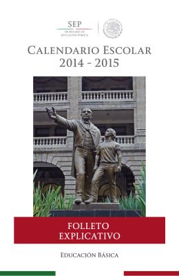 folleto - Secretaría de Educación Pública