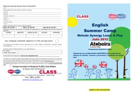 Folleto Inscripción Camp inglés ATobeira 2015