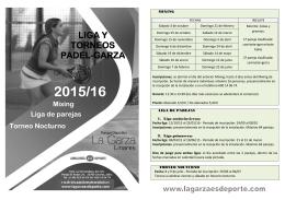 Folleto LIGA Y TORNEOS PADEL-GARZA 2015-2016