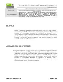 Relativos a la Infraestructura Carretera del País(MP-214