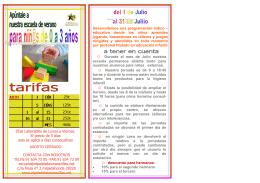 folleto verano escuela 2015 SIN AGOSTO.pub