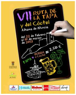 VII RUTA TAPA `13.1 - Turismo Alhama de Murcia