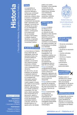 imprimir folleto - Admisión - Pontificia Universidad Católica de Chile