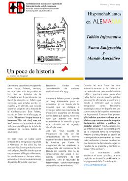 Un poco de historia - Bund der spanischen Elternvereine in der BRD