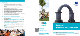 Grado en HISTORIA Y PATRIMONIO - Universitat Jaume I de Castelló