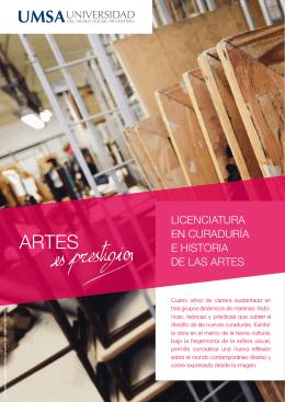 licenciatura en curaduría e historia de las artes