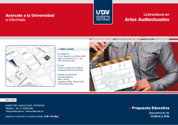 folleto artes audiovisuales - Universidad Nacional de Avellaneda