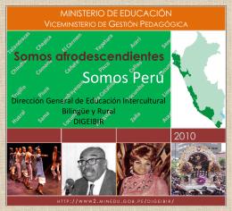 Somos afrodescendientes - Congreso de la República del Perú