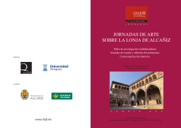 FQLL Lonja folleto.indd - Comarca del Bajo Aragón