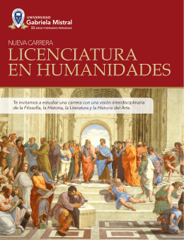 Descarga aquí el Folleto de la Licenciatura en Humanidades
