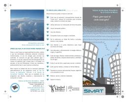 Folleto SIMAT - Calidad del aire