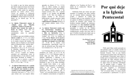 Porqué Deje la Iglesia Pentecostal–folleto