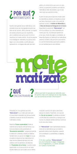 MATE FOLLETO - Universum