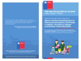 Nueva institucionalidad para la Educación Parvularia, destinada a