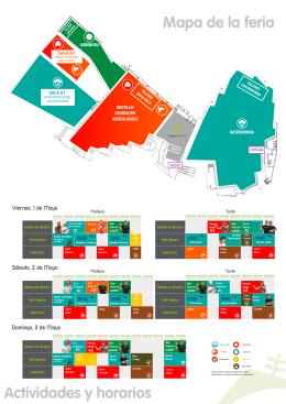 plano y horarios de la Feria Hogarmania