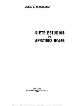 Siete estudios de Aristides Rojas /