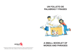 un folleto de palabras y frases a small booklet of words and phrases