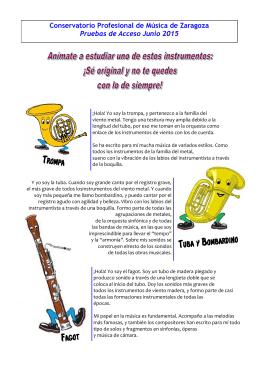 Instrumentos menos conocidos