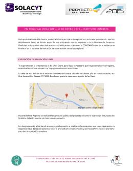 pm regional zona sur – 17 de enero 2015