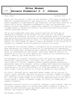 Notas Neuman Escuela Elemental O. C. Johnson