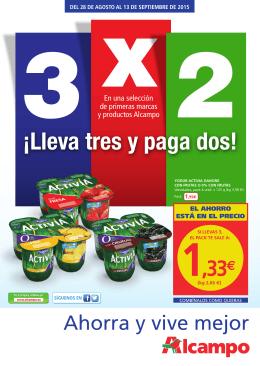 3 X 2 LLEVA 3 Y PAGA 2