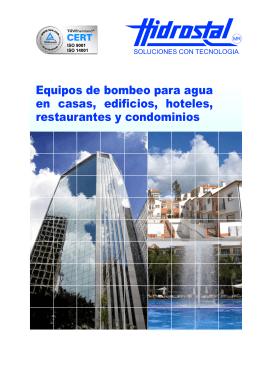Folleto Equipos de bombeo para agua en casas, edificios