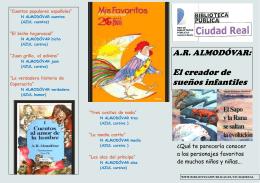 Descargar folleto Antonio Rodríguez Almodovar