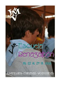 folleto benagalbon 2012 - Juventudes Marianas Vicencianas