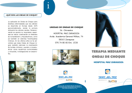 Folleto informativo - Ondas de Choque Hospital MAZ