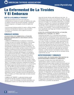 El folleto de La Enfermedad De La Tiroides Y El Embarazo