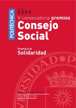 Folleto premio solidaridad 2009