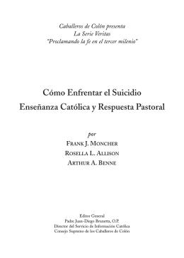 Cómo Enfrentar el Suicidio Enseñanza Católica y Respuesta Pastoral