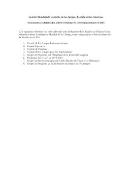 Comité Mundial de Consulta de los Amigos Sección de las