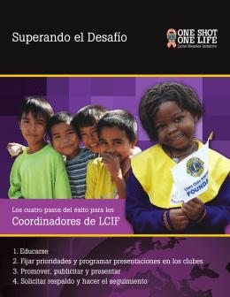 Folleto del coordinador de LCIF sobre la Iniciativa contra el Sarampión