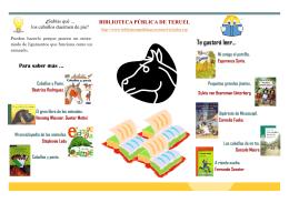 folleto caballo - Bibliotecas Públicas