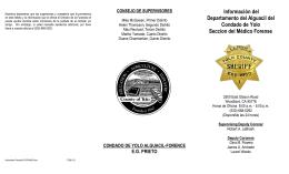 Información del Departamento del Alguacil del Condado de Yolo