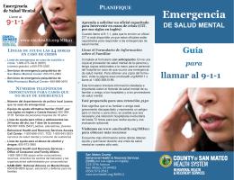 Emergencia - San Mateo Health System