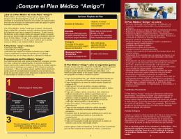 """¡Compre el Plan Médico """"Amigo""""!"""