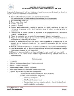 Página 1 GIMNASIO MARROQUÍN CAMPESTRE INSTRUCTIVO
