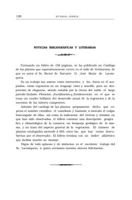 126 NOTICIAS BIBLIOGRÁFICAS Y LITERARIAS Formando
