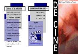 Folleto de Cine - Red de Bibliotecas de Aragón