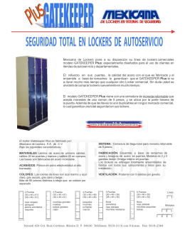Folleto G.K. Plus - Mexicana de Lockers