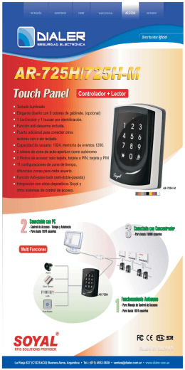 folleto AR725H-M