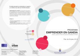 Folleto Programa Emprender en Gandia 2014
