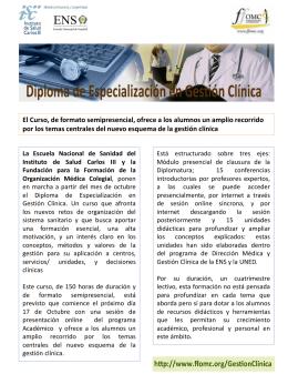 Diploma de Especialización en Gestión Clínica