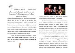 Folleto del Taller de Teatro - Biblioteca del IES Faro de Maspalomas